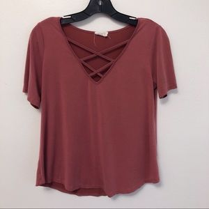 Sienna Sky Criss Cross T-Shirt